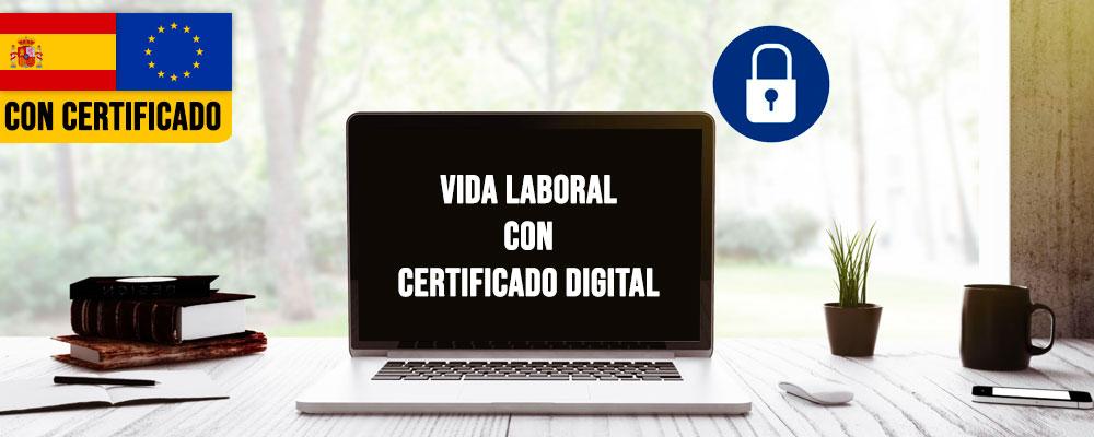 Pedir la Vida laboral con certificado digital